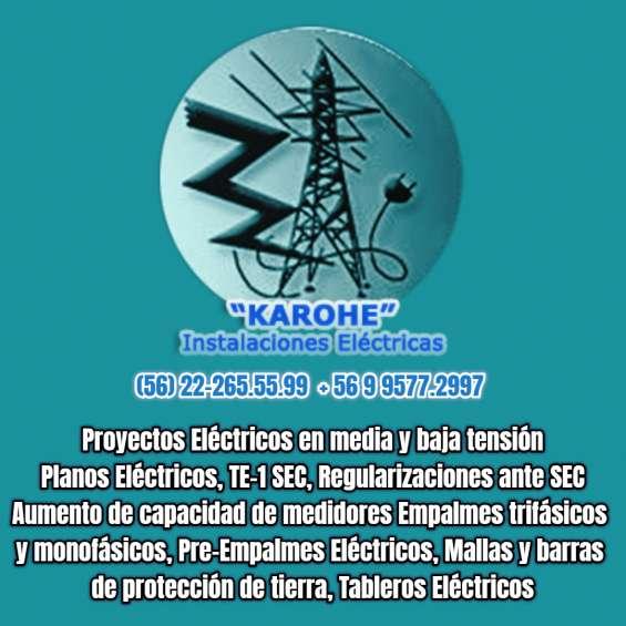 Aumento de capacidad electrica enel cge eepa electrisista 222.655.599 en todo santiago