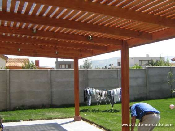 Cobertizos de madera, terrazas -- stgo y v región