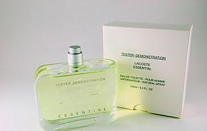 Tester de essential 125ml edt for men by lacoste