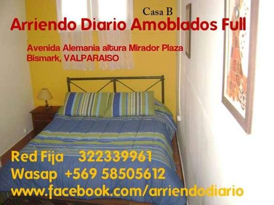 Arriendo diario apartamentos amoblados independientes  wasap +56 958505612 o teléfono fijo 322339961