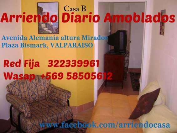 Arriendo diario apartamentos amoblados independientes  wasap +56958505612 o teléfono fijo 322339961