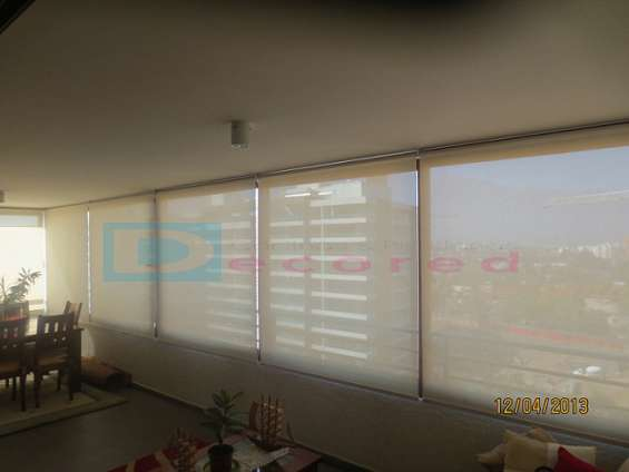 Cortinas roller en tela black-out, screen, rusticas y diseño decored