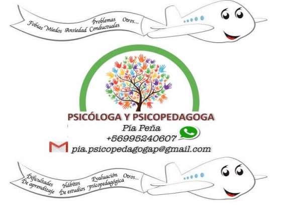Psicopedagoga y psicóloga a domicilio