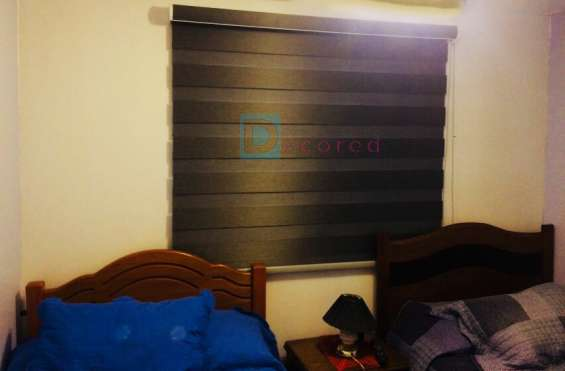 Cortinas roller duo decored