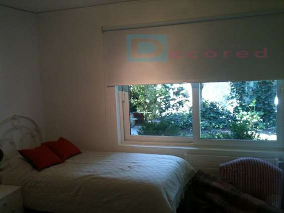 Cortinas roller tela black-out decored