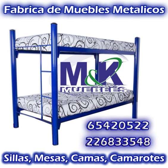 Sillas mesas camas - camarotes stock 500und