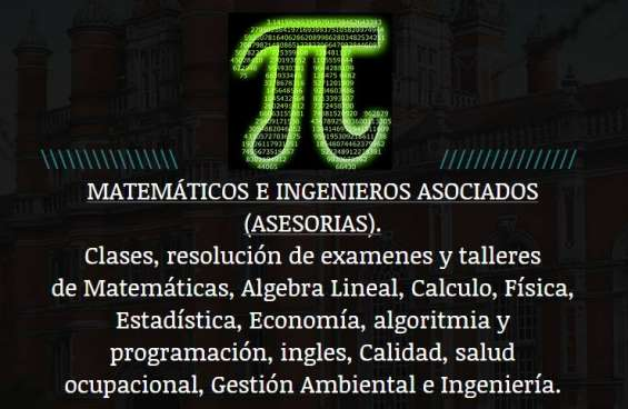 Solución a tus trabajos y pruebas de matemáticas, física, estadística, termodinámica