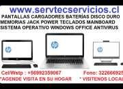 Servicio técnico hp notebook computador pantalla batería