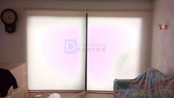 cortinas roller tela rústica decored