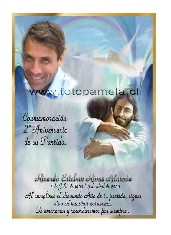 Tarjetas condolencias, agradecimientos, misa en santiago