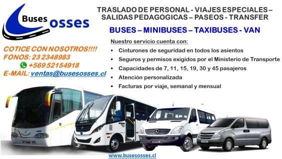 Arriendo de buses - minibuses – van
