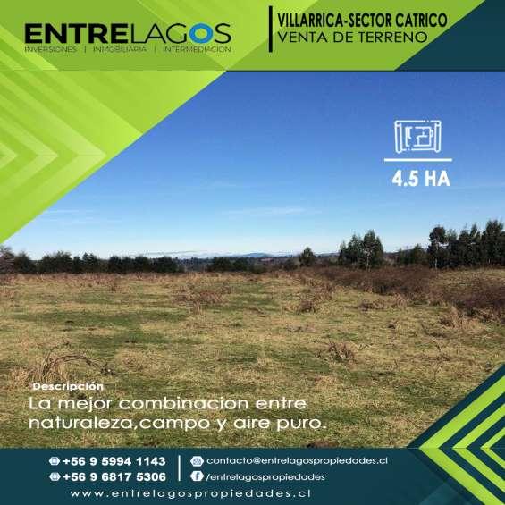 Terreno sector catrico ,villarrica. 4.5 hectareas