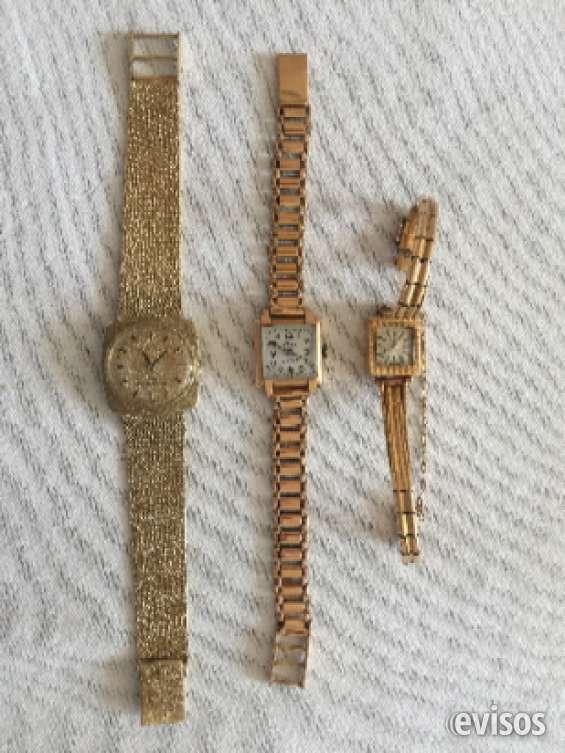 Vendo relojes antiguos de oro