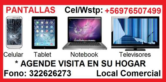 Pantalla notebook televisor celular tablet