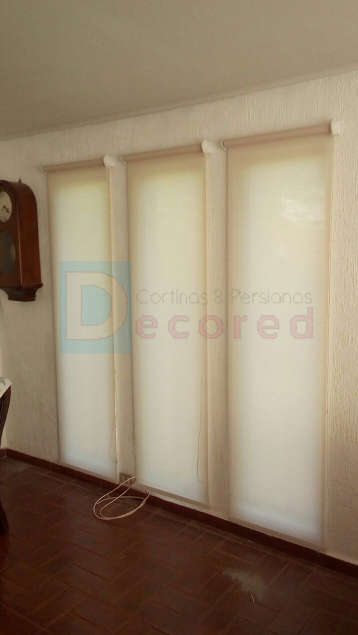Cortinas roller tela black-out, screen, rústicas y diseño decored