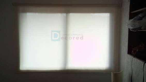 cortinas roller tela rústica decored