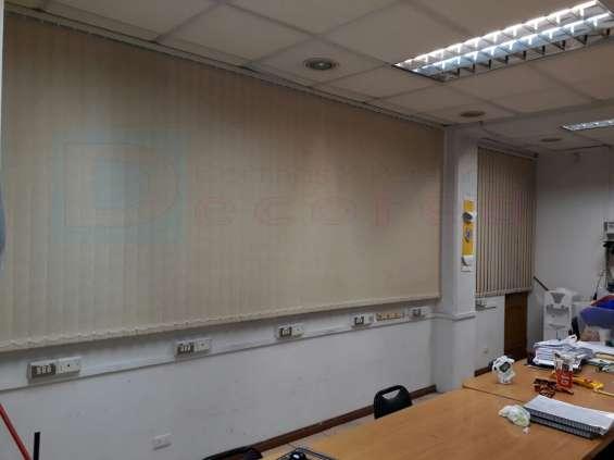 cortinas verticales rústicas decored