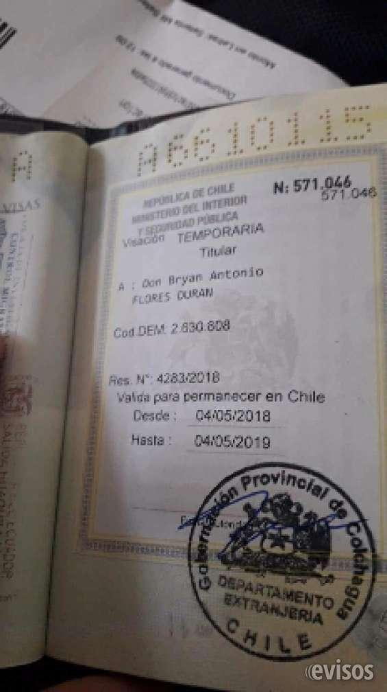 Perdida de pasaporte