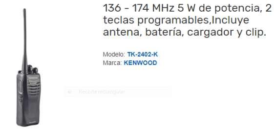 Radio kenwood 2402..