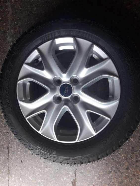 1 llanta de magnesio con neumático nuevos para ford ecosport