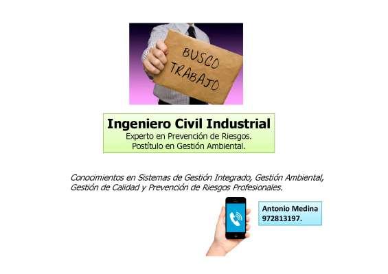 Ingeniero civil industrial sig ofrecese