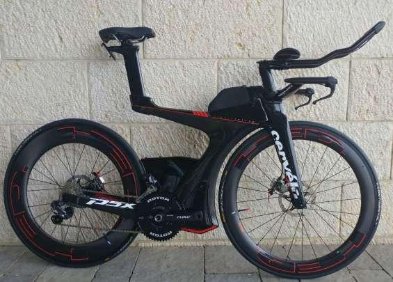 Nuevo carbon road black cervelo p5x ultegra di2 2017 complete bike talla l
