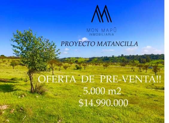Oferta de pre-venta parcelas 5.000m2, litueche