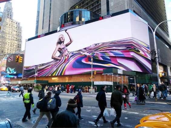 Publicidad exterior en pantallas gigantes de leds tricolor