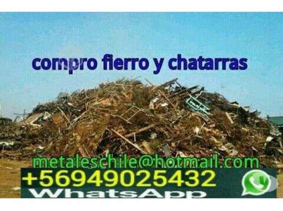 Compro chatarras fierro las condes 949025432