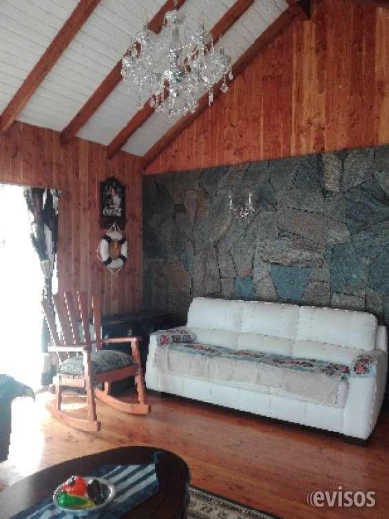 Vista living  cabaña 1