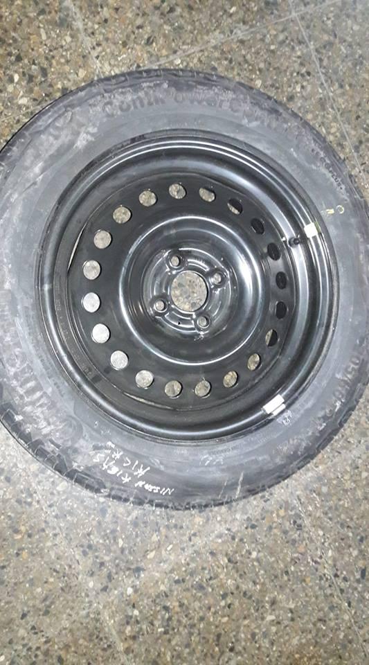 Neumático con llanta nissan kicks 205-60-r-16