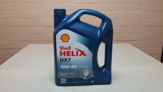 Aceite de motor shell helix hx7 semisintetico 10w40 + filtro