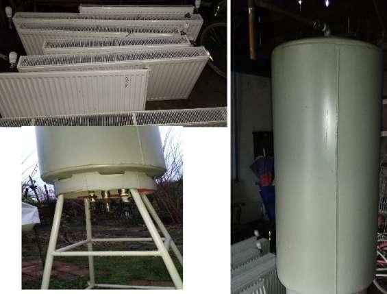 Radiadores y termo acumulador de agua