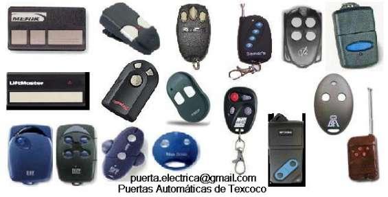 Controles remotos para portones automaticos, tarjetas de proximidad