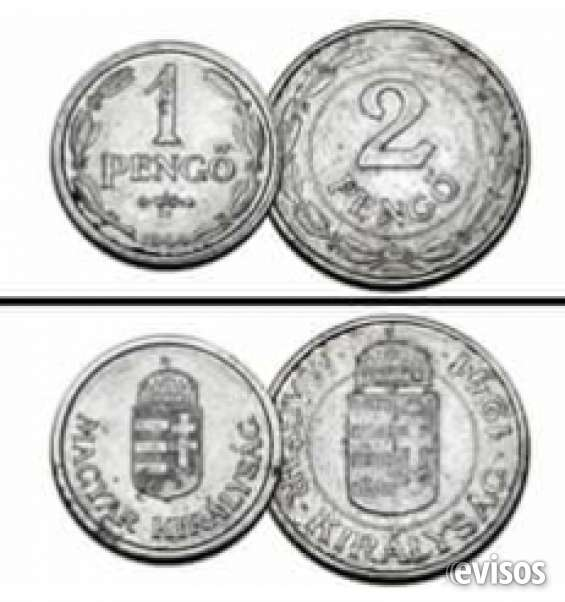Hungria 1 pengo 1944 y 2 pengo 1941emisiones emergencia segunda guerra mundial