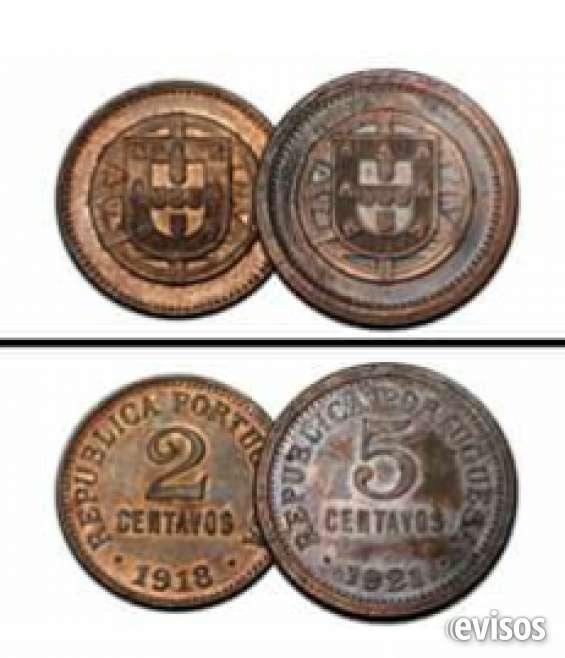 Monefas portugal 2 centavos 1918 y5 centavos 1921