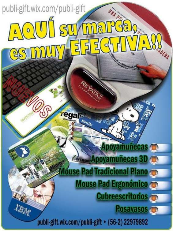 Mouse pad full color desde 50 unds. l 56 222979892