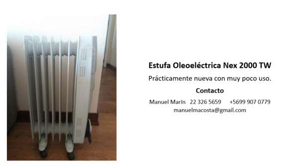 Estufa oleoeléctrica nex re 2000