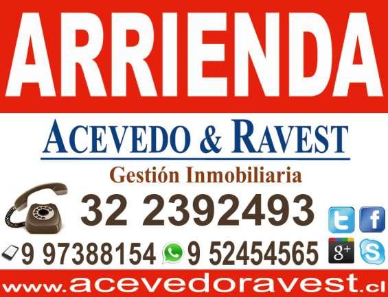 Acevedo & ravest: arrienda departamento en villa alemana.