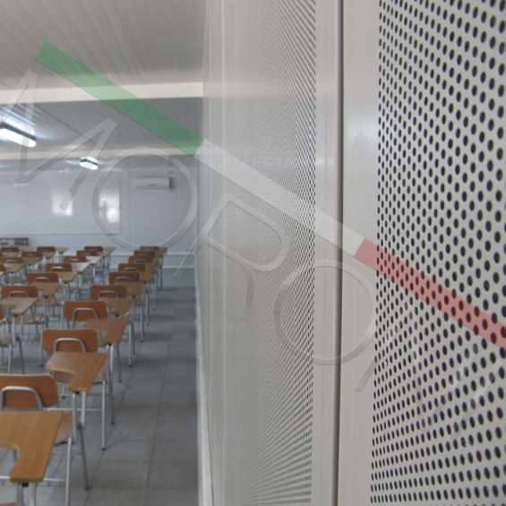 Construcción modular con paneles acústicos