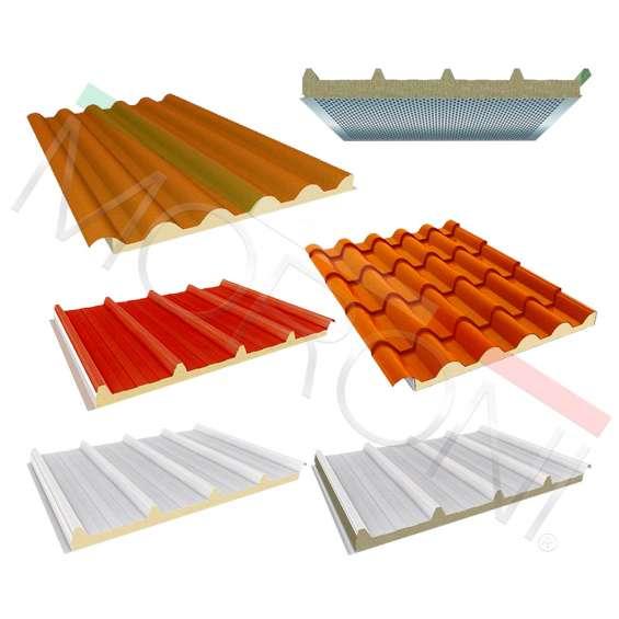 Paneles de cubiertas y revestimientos en stock permanente