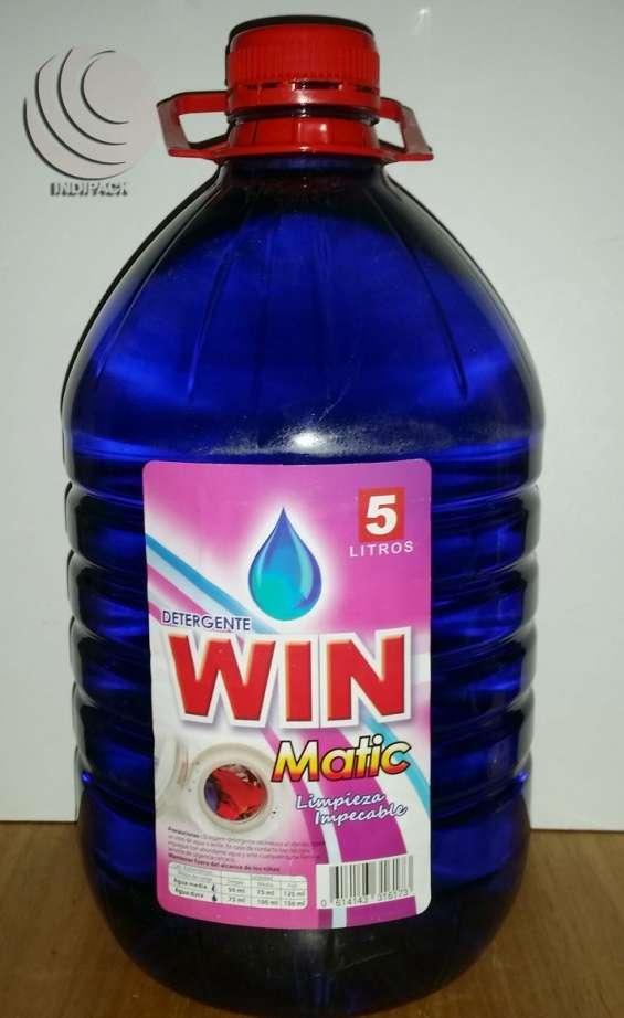 Win 5 ltrs detergente líquido super económico $1.500.- aromático lavanda parfum.
