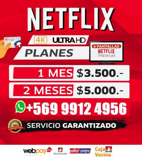 Cuentas netflix premium 4 dispositivos ultra hd 4k