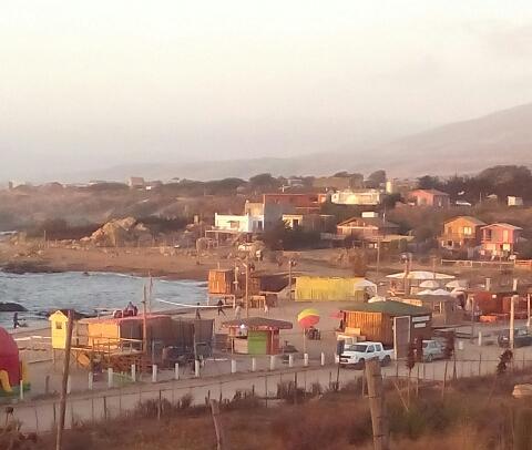 Vista de la playa la ballena