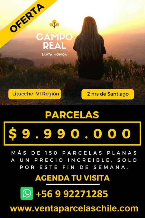 Éxito de ventas hermosas parcelas 5000m2 vi región con rol.