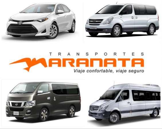 Transporte privado de pasajeros y tours.