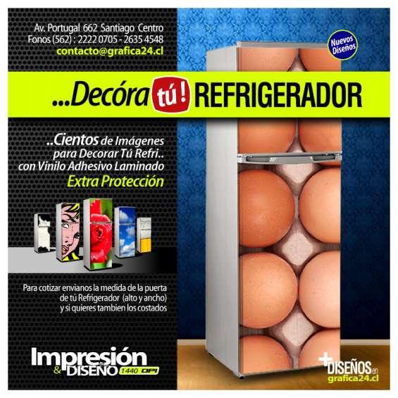 Decora tu viejo refrigerador y ambienta tu cocina !