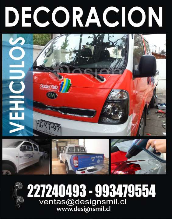 Rotulación grafica adhesiva para todo tipo de vehículo