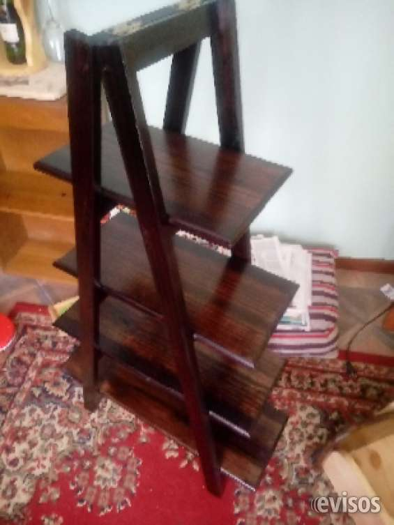 Repisa escalera madera