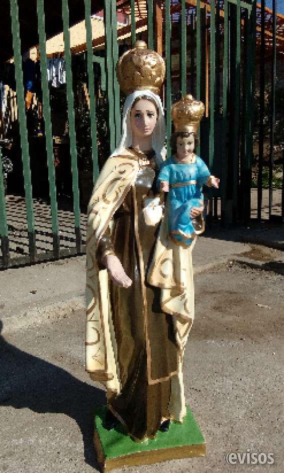 Virgen del carmen 100 cm en material fibra de vidrio